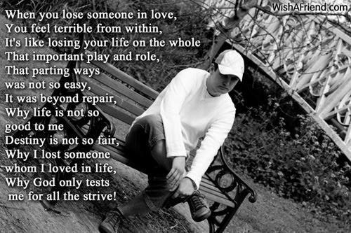 When You Lose Someone Sad Love Poem