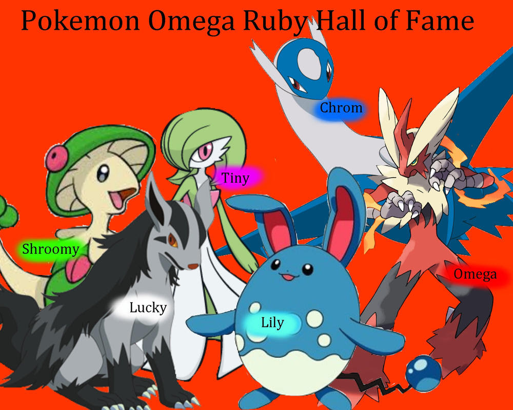 Pokemon Omega Ruby Hall of Fame by KYR22 on DeviantArt