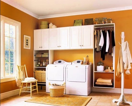 Orange paint color ideas laundry rooms
