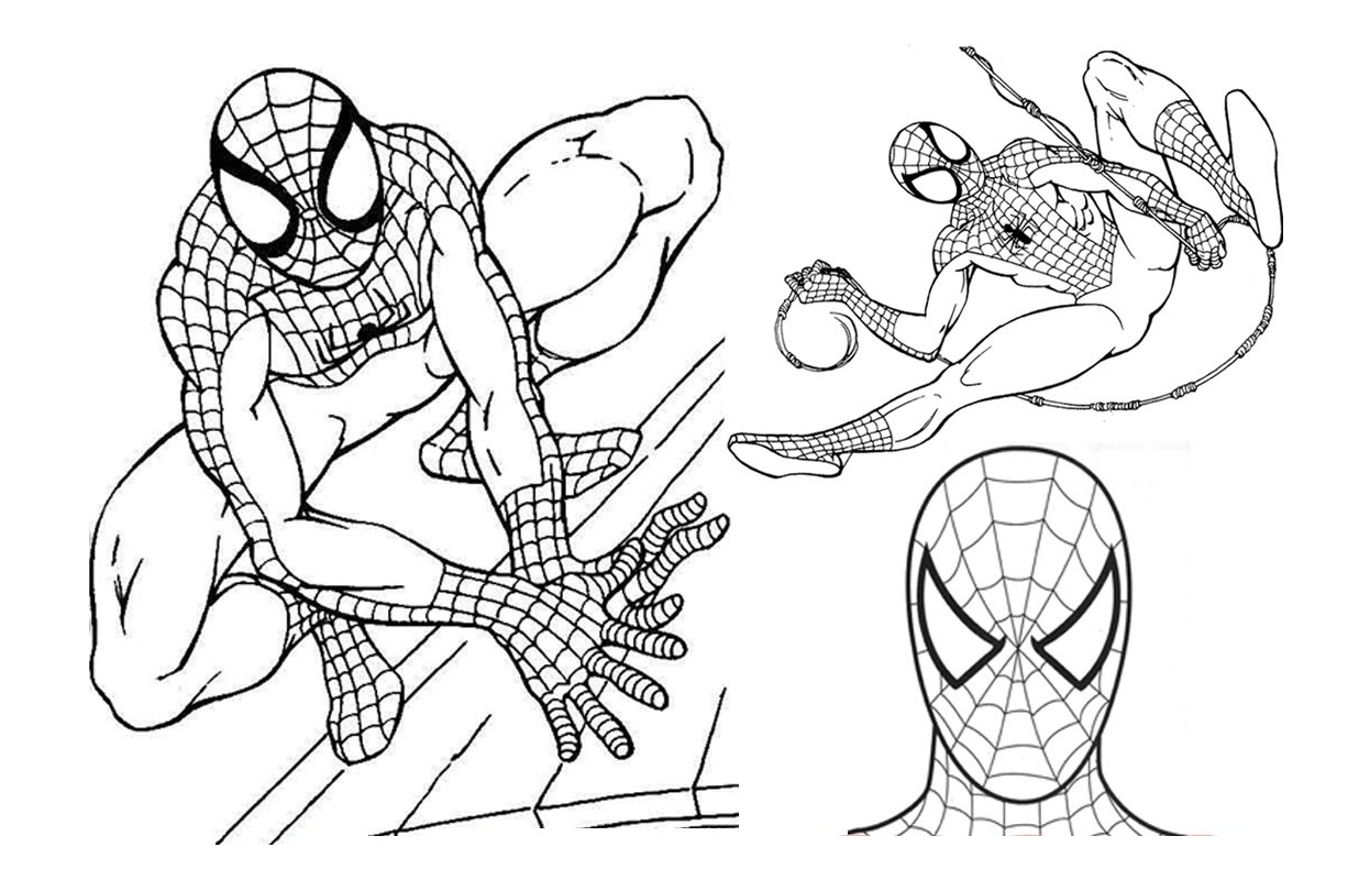 Coloring Pages: Free Printable Spiderman Coloring Pages For Kids