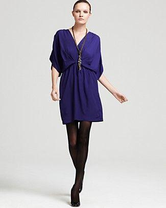 Aqua Kimono Sleeve Dress
