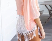 Tassles N' Lace High Waist BOHO shorts