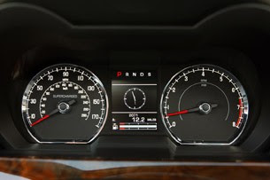 2011 Jaguar XKR Convertible gauges