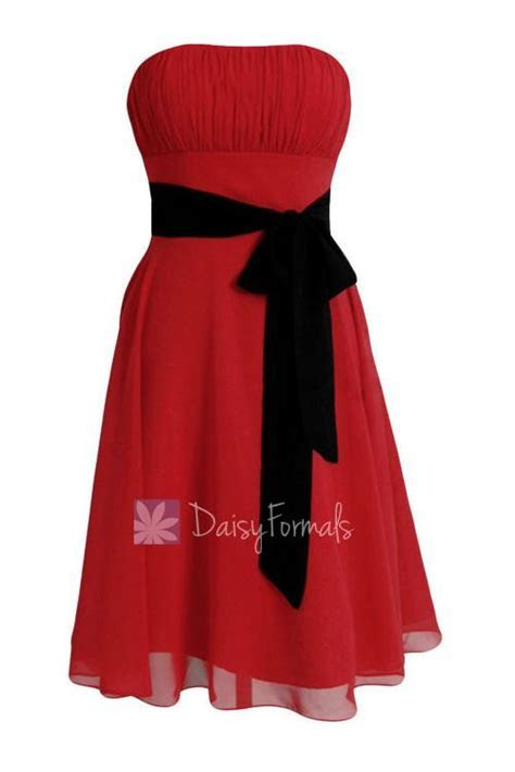 Classic A line Short Red Formal Bridesmaid Dress Cocktail