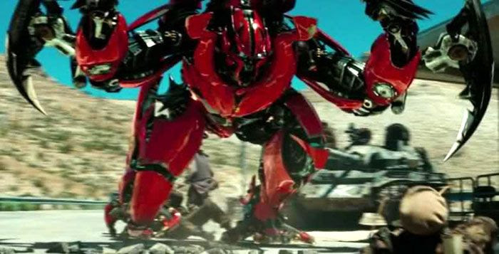 Mirage confronts the U.S. Army in TRANSFORMERS: DARK OF THE MOON.