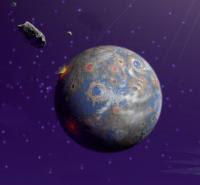 Tabrakan besar di Bumi milyaran tahun lalu. Kredit : NASA/JPL