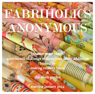 Fabriholics Anonymous Button