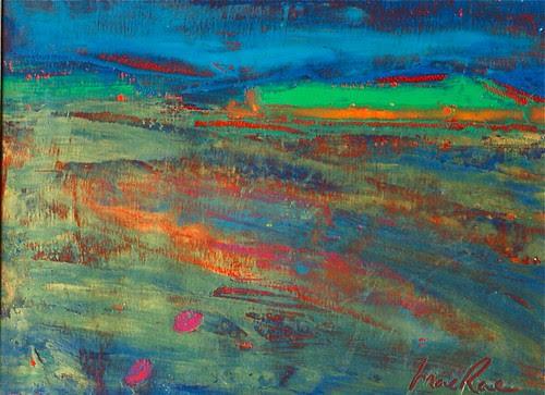 Stromness June 2010 en plein air oil painting by Roberta MacRae Artist in the Landscape