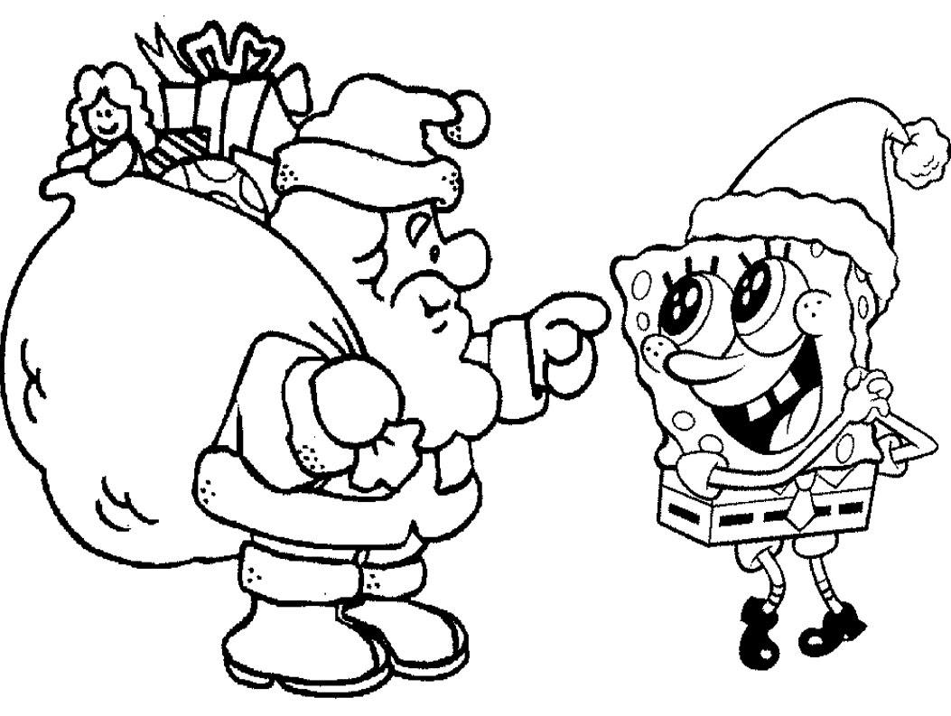 Bob Esponja Navidad Para Colorear