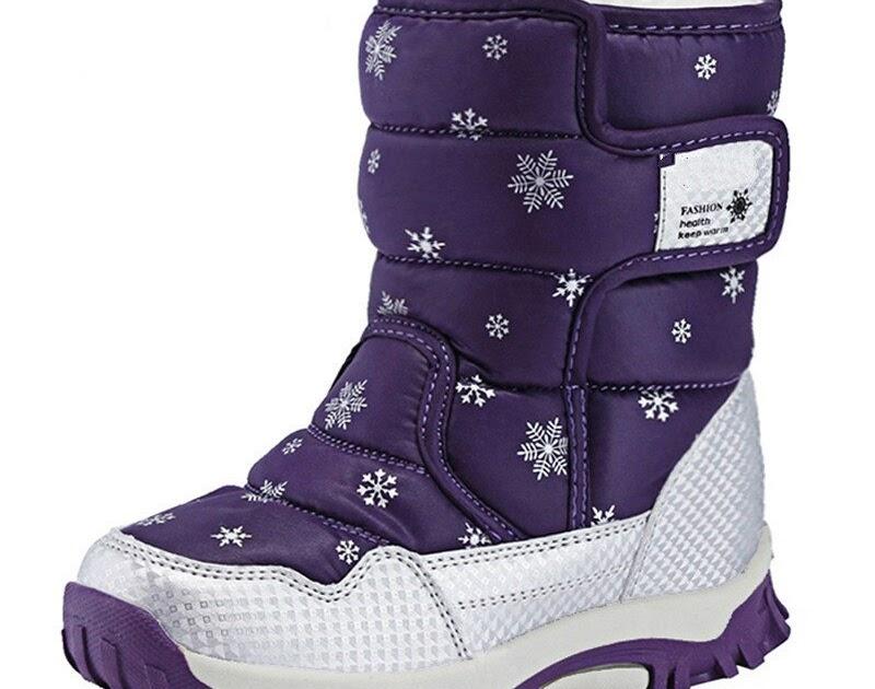 0b55fdee40c5c Buy Handmade Comfortable Girls Snow Boots Russia Winter Warm Boots Kids  Shoes Waterproof Children s Boots Brand Sneakers 921 Cheap Online - buyrfv