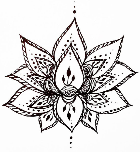 Lotus Flower Drawing Clipartsco