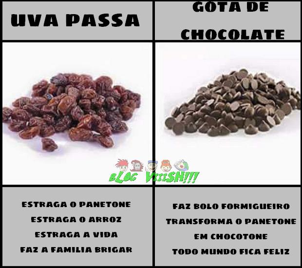 Blog Viiish - Passas X Gotas de chocolate