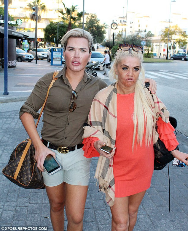 Tan-tastic! The former EastEnders actress, 43, and Rodrigo both chose to flaunt their sunkissed pins while stepping out in Marbella
