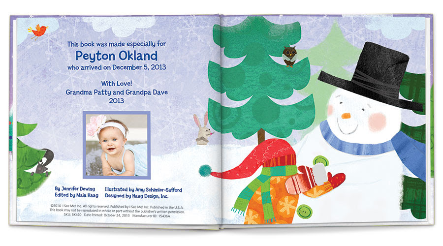 My Magical Snowman Personalized Book