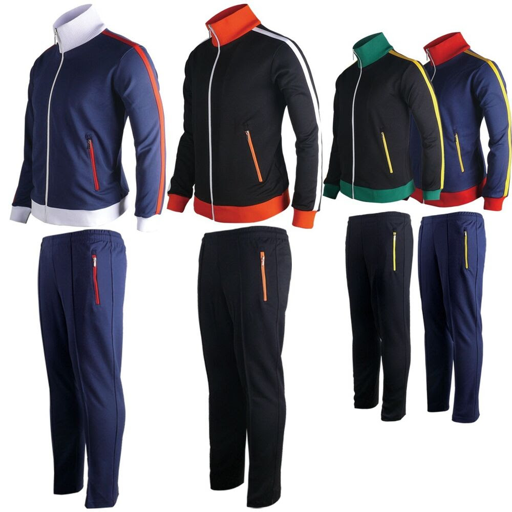 mens womens running jogging track suit warm up pants