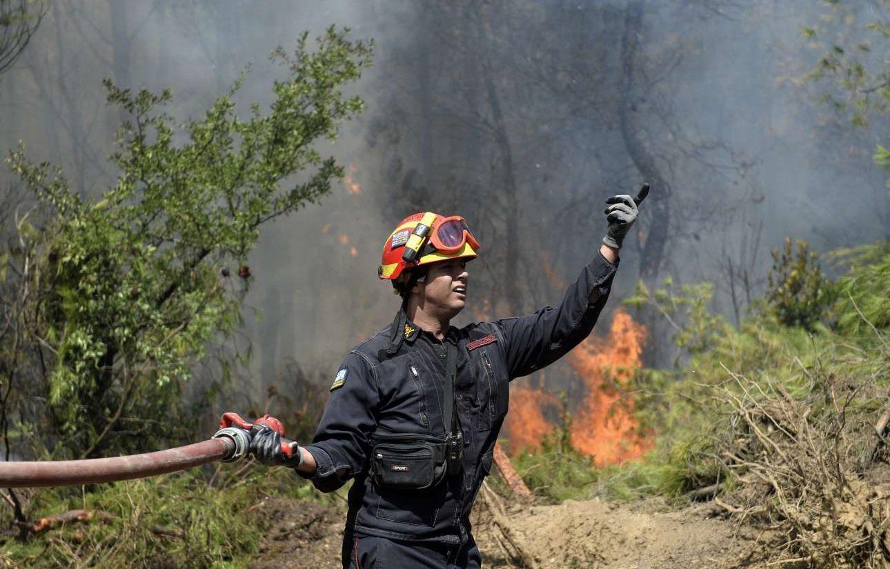 H μάχη με τις φλόγες στο Καπανδρίτι, ανήμερα Δεκαπενταύγουστος