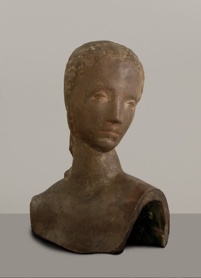 Wilhelm Lehmbruck, Head of a girl, Turning, 1913-1914, Museum of Fine Arts Ghent