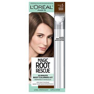 L'Oreal Root Rescue 10 Minute Root Coloring Kit, Medium Brown 5