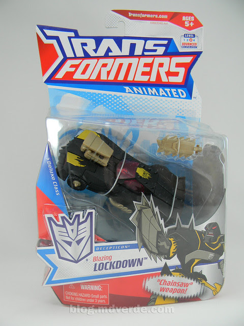 Transformers Blazing Lockdown Animated Deluxe - caja