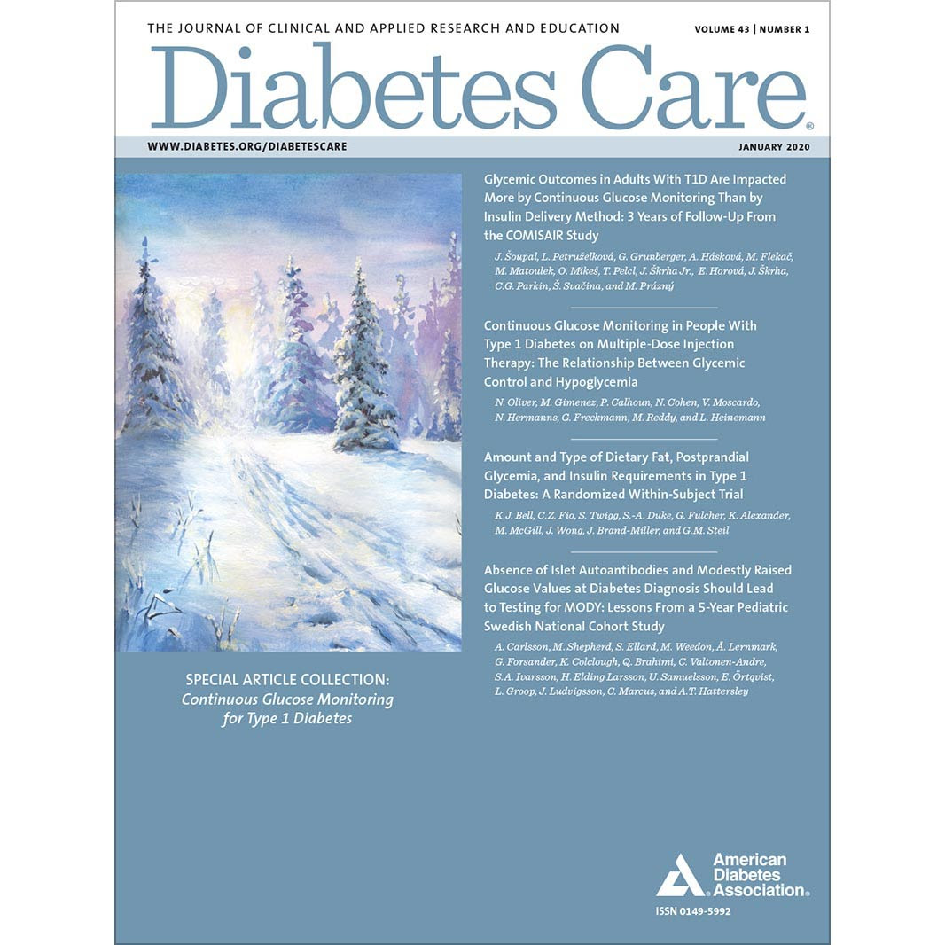 Diabetes Care, Volume 43, Issue 1, January 2020 ...