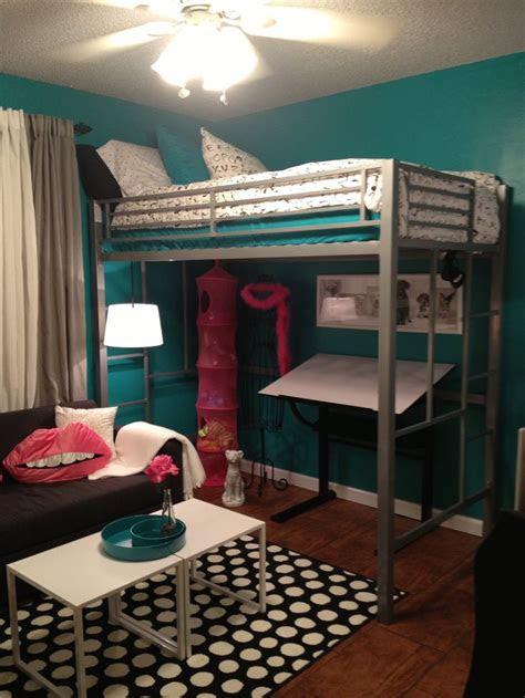 teen room tween room bedroom idea loft bed black