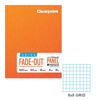Clearprint 1000h 8 16lb Design Vellum 8x8 Fade Out Grid Field Sketch