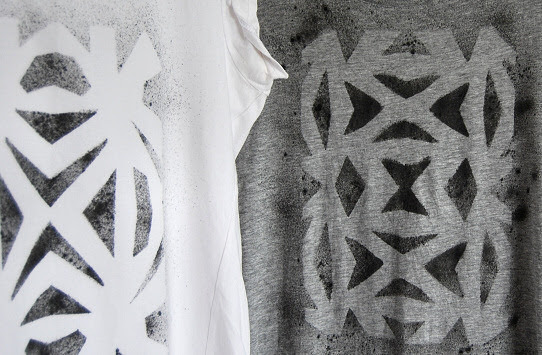 white and grey prints