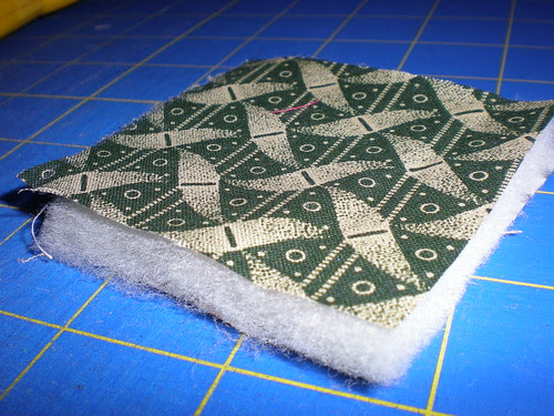 Double Side Quilt First Square layered up