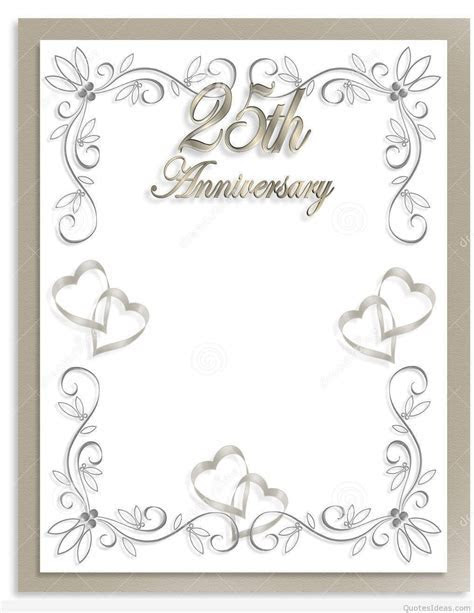 Free 25th wedding anniversary invitations : free silver