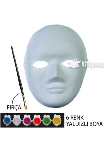 karton maske boyama seti kum toys