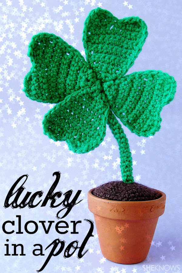 four-leafed crocheted clover