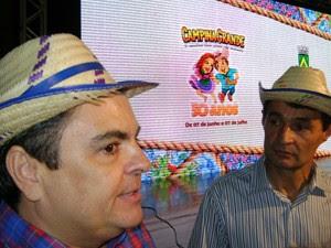 Vice-prefeito Ronaldo Filho e prefeito Romero Rodrigues apresentam São João 2013 (Foto: Taiguara Rangel/G1)