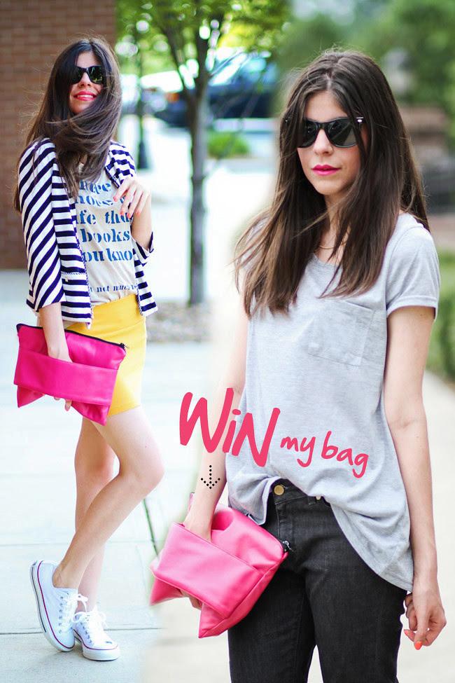 Romwe envelope clutch in hot pink, Fashion