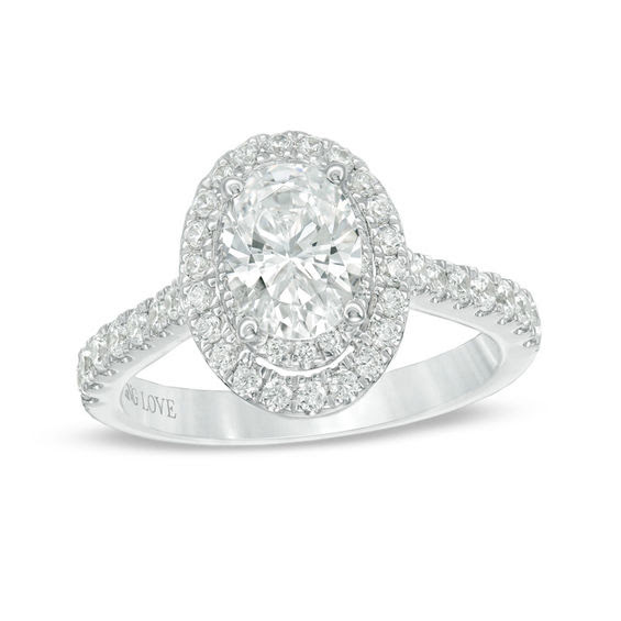 Vera Wang Love Collection 1 58 Ct Tw Certified Oval Diamond