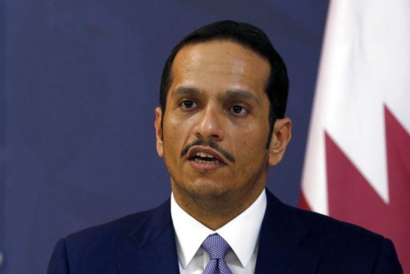 Menteri Luar Negeri (Menlu) Qatar Sheikh Mohammed bin Abdulrahman Al Thani saat berada di Beograd, Serbia.