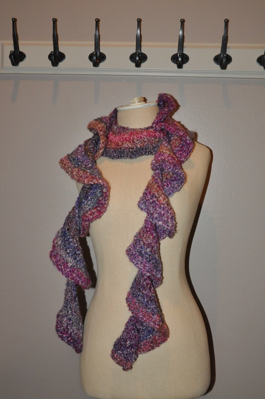 Mixed Berries Vegan Ruffle Scarf