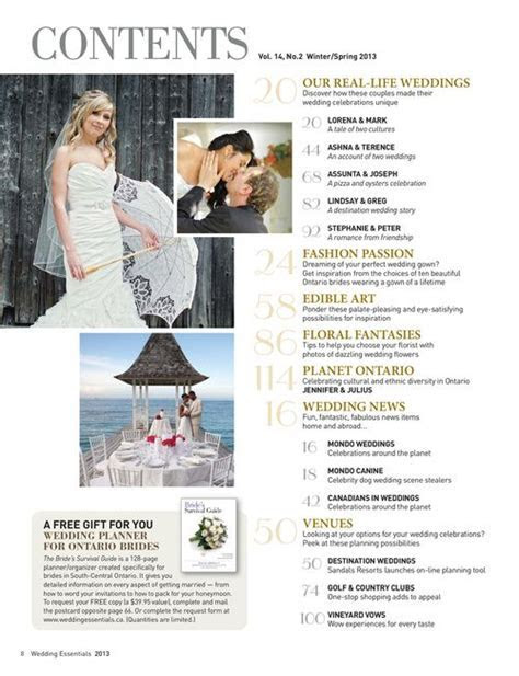 wedding magazine contents page   Google Search   Magazine