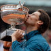 Rafael Nadal defeated David Ferrer, 6-3, 6-2, 6-3, to win the French Open on Sunday.