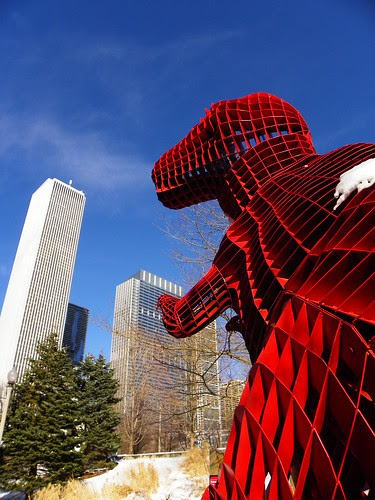 Chicago Millenium Park Chinesee Sculpture