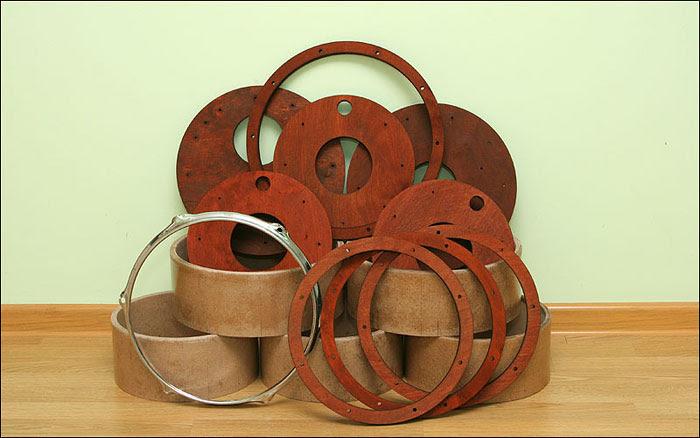 Самодельные обручи и днища для барабанов