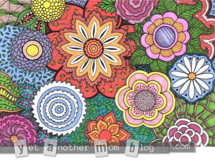 More Coloring Pages For Adults Zentangle Flowers Yet Another Mom Blog