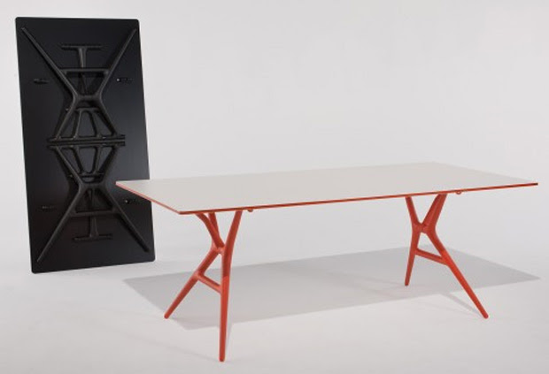 Mesa de oficina plegable Spoon Table - Kartell, muebles, decoracion, diseño