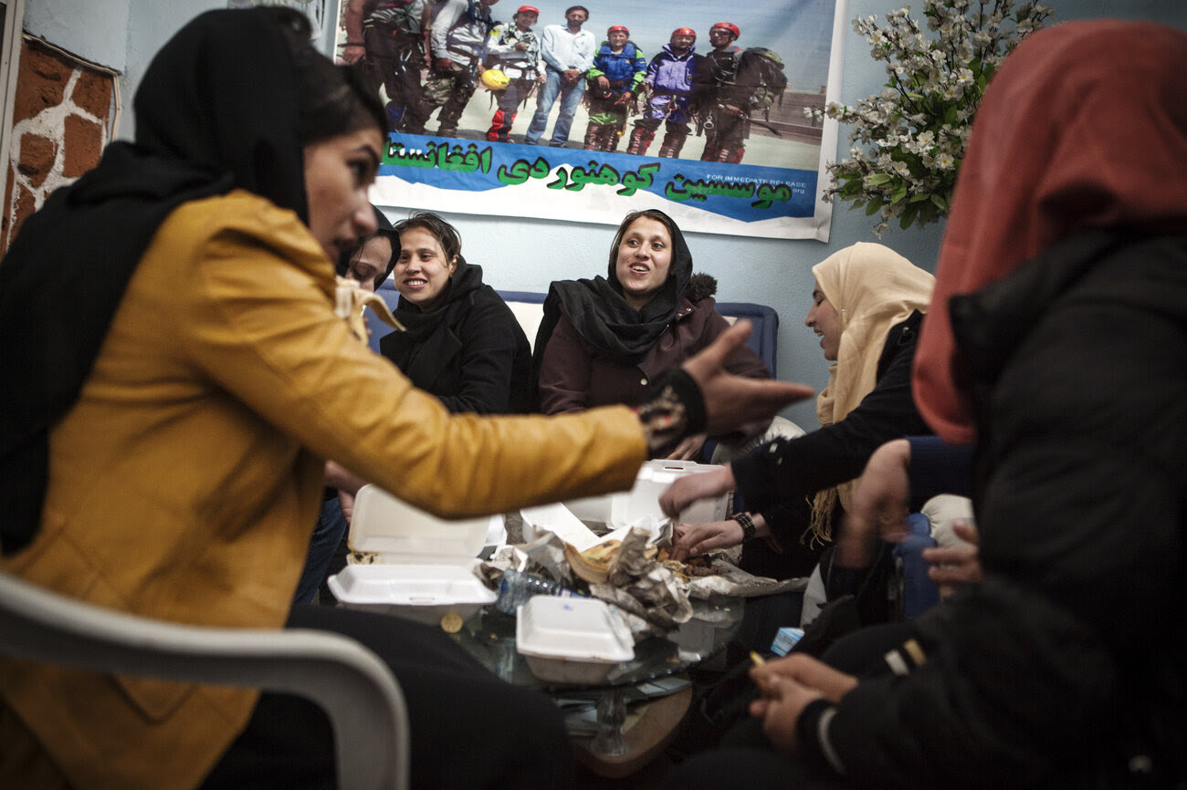 The Afghan women's team needs everything, including food.