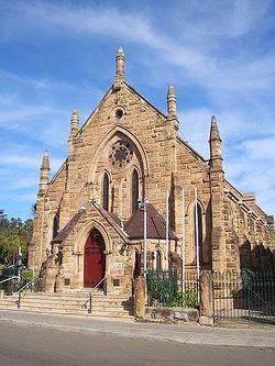 Загрузить увеличенное изображение. 450 x 600 px. Размер файла 69135 b.  The heritage listed St Nectarios Greek Orthodox Church in Burwood, Sydney was formerly a Methodist Church