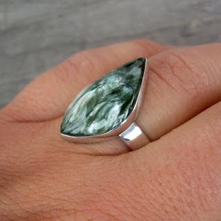 seraphinite silver ring