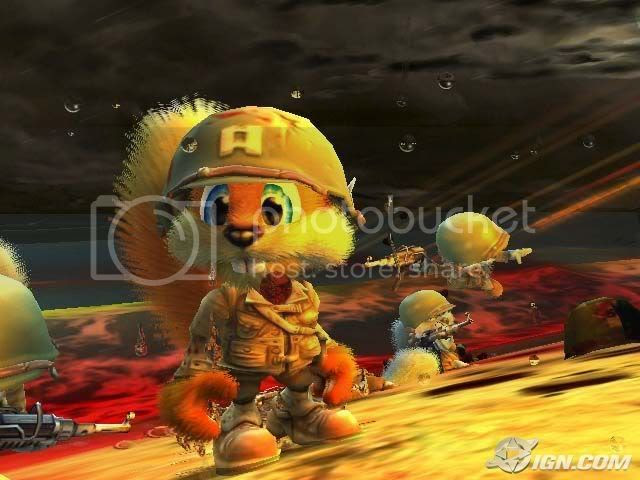 A Cutscene from Conker Live