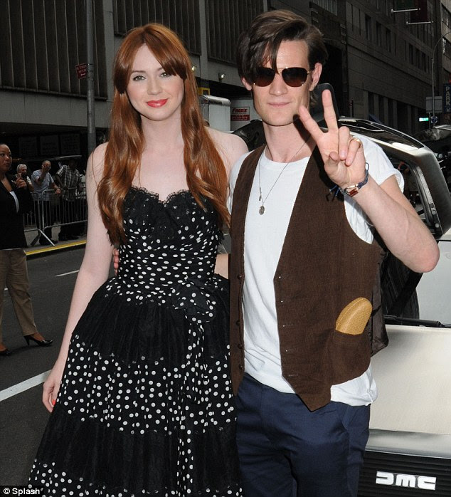The power couple: Matt and Karen were greeted by a large amount of fans who had waited for hours to see them