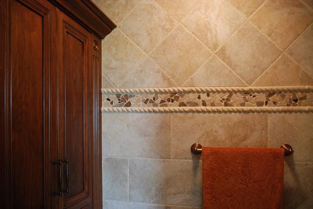 Mosaic Tile Trim - Contemporary - Bathroom - cleveland ...