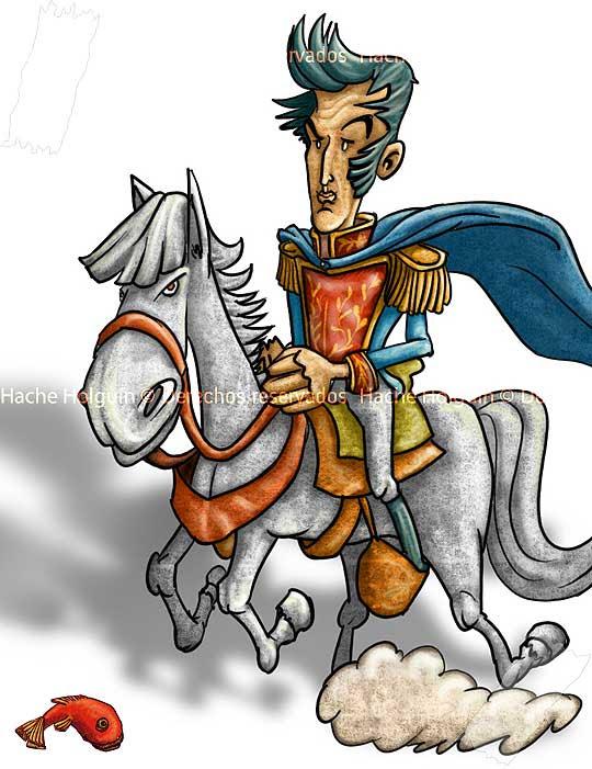Simón Bolívar por Hache holguin, hugo holguin