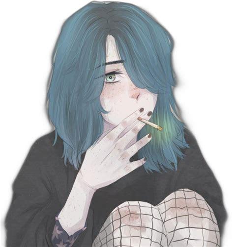 anime girl smoker aesthetictumblr aesthetics tumblr
